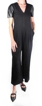MICHAEL Michael Kors Leather Sleeve Jumpsuit