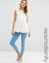Asos Ridley Skinny Jeans In Primrose Wash With Under The Bump Waistband