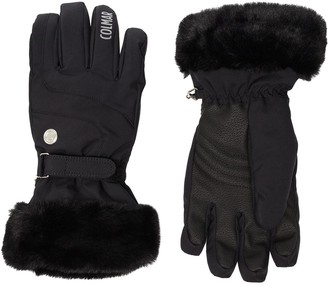 Colmar Waterproof Faux-Fur Ski Gloves