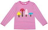 Jo-Jo JoJo Maman Bebe Toadstool Top (Baby) - Fuchsia/Cream Stripe-18-24 Months