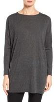 Eileen Fisher Women's Fine Gauge Knit Bateau Neck Pullover