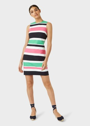 Hobbs Alya Cotton Blend Stripe Shift Dress
