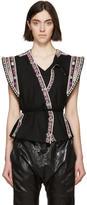 Isabel Marant Black Embellished Blaine Vest