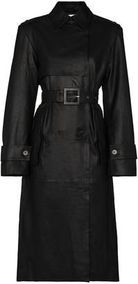 REMAIN Pirello belted sheepskin trench coat