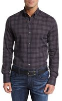 Neiman Marcus Plaid Sport Shirt, Midnight