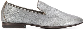 Henderson Baracco metallic slip-on loafers