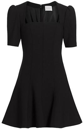 Cinq à Sept Joy Short Puff-Sleeve A-Line Dress