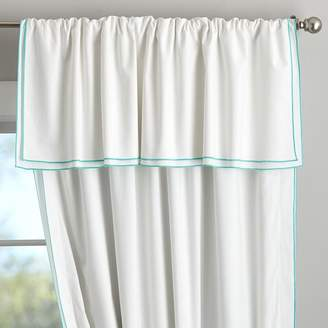 Pottery Barn Teen Parker Blackout Curtain, 108&quot, White/Royal Navy