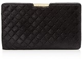 Milly Small Diamond Calf Hair Clutch