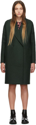 Harris Wharf London Green Oversized Fitted Coat