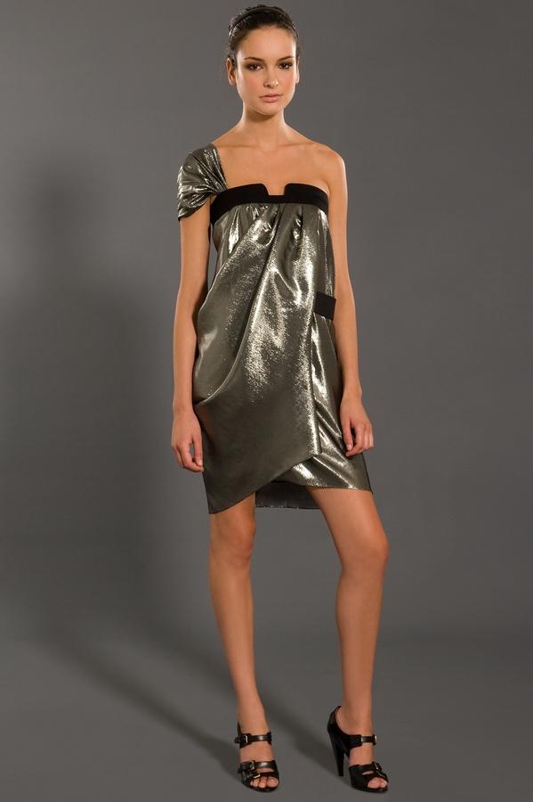 Derek Lam Draped Asymmetrical Dress