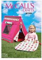 Mccall's MC7268OSZ 18-Inch Dolls Sleeping Bag and Tent by
