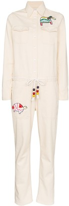 Mira Mikati Animal Patch Tie-Waist Jumpsuit