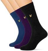 Lyle & Scott Men's Three Pack Assorted Calf Socks