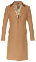 Alexander Mcqueen Contrast-collar Single-breasted Camel-wool Coat
