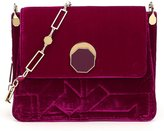 Louise et Cie Edeth Quilted Silk-Blend Velvet Cross-Body Bag