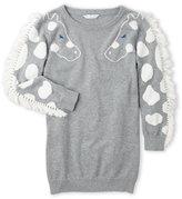 Little Marc Jacobs Girls 4-6x) Fringe Trim Sweater Dress
