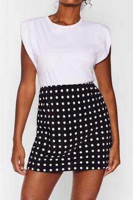 Nasty Gal Womens polka dot mini skirt - Black
