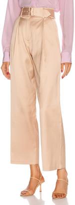 Fleur Du Mal Twill Belted Trouser in Safari | FWRD