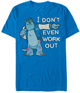 Fifth Sun Men's Tee Shirts ROYAL - Monsters, Inc. Sully 'I Don't Even Work Out' Tee - Men