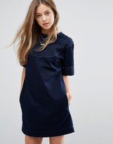 MiH Jeans Luna Denim Dress With Trim Detail