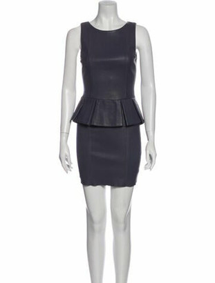 Thomas Wylde Scoop Neck Mini Dress Grey