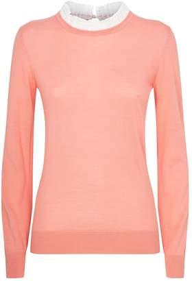 Claudie Pierlot Lace Trim Knit Sweater
