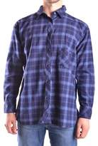 Meltin Pot Men's Blue Cotton Shirt.