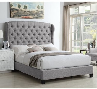 Feliciti Upholstered Standard Bed Mulhouse Furniture Size: Full, Color: Dove Gray