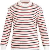 Maison Margiela Striped cotton-jersey sweater