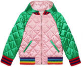 Gucci Children's satin bomber jacket with dragon
