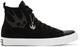 McQ Black Swallow Orbyt High-Top Sneakers