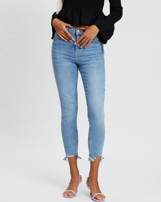 Topshop Raw Hem Jeans