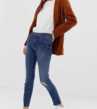 Pimkie rip detail skinny jeans in medium blue