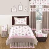 JoJo Designs Sweet Mod Elephant 4-Piece Twin Comforter Set in Pink/Taupe