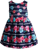 Sweet Heart Rose Sweetheart Rose Striped and Floral Pleated Shantung Special Occasion Dress