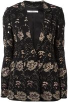 Givenchy floral embroidered blazer - women - Viscose/Spandex/Elastane/Silk - 38