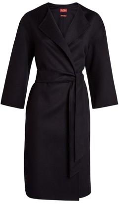 Max Mara Etna Collarless Belted Coat