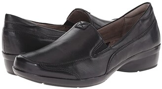Naturalizer Channing (Black Leather) Women's Slip on Shoes