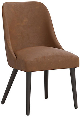 One Kings Lane Barron Faux-Leather Side Chair - Saddle Brown