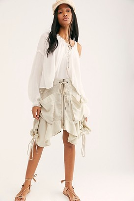 Free People Paxton Parachute Utility Skirt