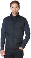 Perry Ellis Big and Tall Horizontal Quilted Zip Vest