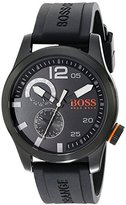 HUGO BOSS BOSS Orange Men's 1513147 Paris Analog Display Japanese Quartz Black Watch