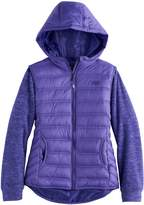 Hawke & Co Girls 4-16 Midweight Sweater Fleece Puffer Jacket
