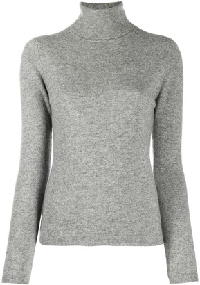 Allude Slim-Fit Roll Neck Jumper
