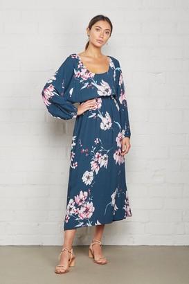 Rachel Pally Crepe Yaritza Dress - Teal Blossom