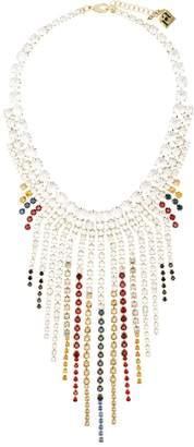 Rosantica cascade crystal drape necklace