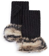 UGG Lurex® Crochet Gloves with Shearling Sheepskin Cuff