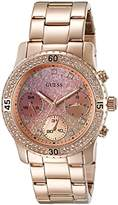 GUESS Rose Gold-Tone + Pink Stainless Steel Bracelet Watch with Day