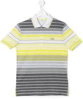 Boss Kids - striped polo shirt - kids - Cotton - 14 yrs